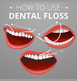 floss concept background cartoon style vector image vector image