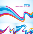Flow abstract background vector image