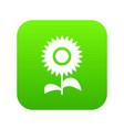 flower icon digital green vector image