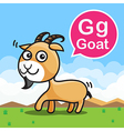 G Goat color cartoon and alphabet for children to vector image