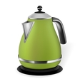 Green electric kettle vector image