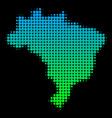 halftone brazil map vector image