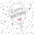 Hand lettering birthday greeting card ballon vector image