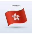 Hong Kong flag waving form vector image