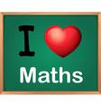 I love Math vector image