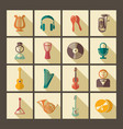 icons of musical instruments vector image vector image