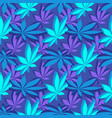 isometrcic marijuana leafs seamless pattern vector image vector image