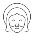 jesus thin line icon portrait and christ vector image vector image