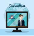 journalism and journalist vector image