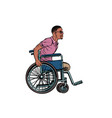 legless african man disabled veteran in a vector image vector image