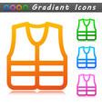 life jacket symbol icon vector image
