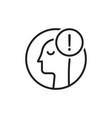 linear man like panic or anxiety logo vector image