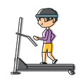 man on a treadmill vector image vector image