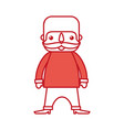Mexican man with mustache cartoon standing