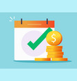 money cash loan credit approved check mark icon vector image vector image