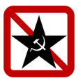 No communism sign vector image vector image