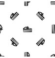 piece of cake pattern seamless black vector image vector image