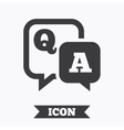Question answer sign icon QA symbol vector image vector image