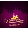 Ramadan Kareem greeting ornate background vector image vector image