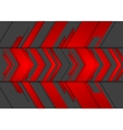Red and black abstract tech arrows background vector image vector image