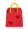 Red Gift Pack with hearts icon flat design vector image vector image