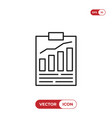 result list icon vector image vector image