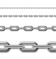 seamless chain isolated on white background set vector image