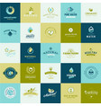set flat design icons for food and drink vector image