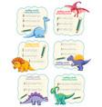 set spelling words dinosaur handwriting vector image