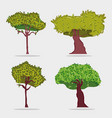 set trees icons vector image