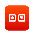 signs hand up and down in squares icon digital red vector image vector image
