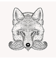 Sketch fox with a beard and moustache Hand drawn vector image vector image