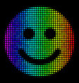 spectrum dot glad smile icon vector image