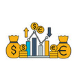 stock market image vector image vector image