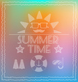 Summer Time Card Banner vector image vector image