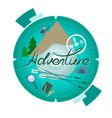 travel logo with an inscription vector image