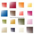 trendy color scheme by gradient squares vector image vector image