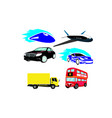 urban transport colored city image vector image