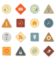 Web icons retro style vector image