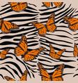 zebra seamless pattern animal print vector image vector image
