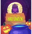 Witch crafting pot vector image