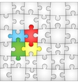 Four colors puzzle background vector image