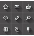 Set of website menu icons vector image