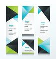 abstract banner set 3 color vector image