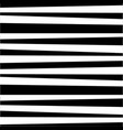 abstract horizontal black and white striped vector image