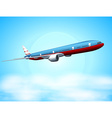 An aeroplane in the sky vector image vector image