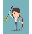 Archer with bow and arrow vector image vector image