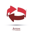 Arrow shape design vector image vector image