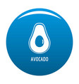 avocado icon blue vector image vector image