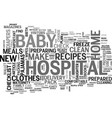 be prepared for your new baby a checklist for new vector image vector image